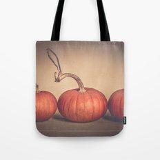 Three Pumpkins  Tote Bag