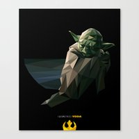 Geometric Yoda Canvas Print