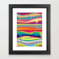 The Melting Framed Art Print