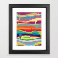 The Melting Framed Art Print