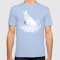LE CHAPARDEUR Mens Fitted Tee Tri-Blue SMALL