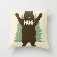 Bear Hug? Throw Pillow