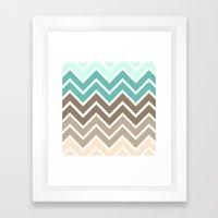BEACHY CHEVRON Framed Art Print