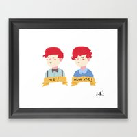 two self portraits Framed Art Print