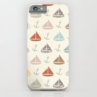 iPhone & iPod Case featuring boats and anchors pattern by flying bathtub