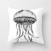 Jellyfish Octopus Creatu… Throw Pillow