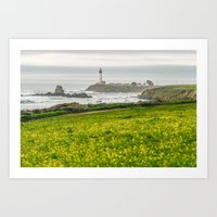 The Lighthouse Of Highwa… Art Print