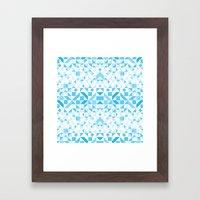 Geomtric Pastel Wave Framed Art Print