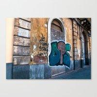 SICILIAN FACADE In CATAN… Canvas Print