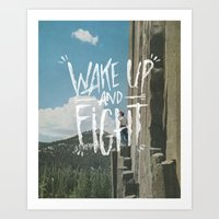 WAKE UP AND FIGHT (AGAIN… Art Print