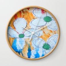Shy Flowers Wall Clock