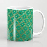 Gold And Turquoise Mug