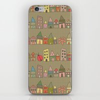 City {Housylands - Brown… iPhone & iPod Skin