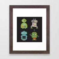 Robot Life Framed Art Print