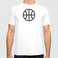 Basketball - Balls Serie Mens Fitted Tee White SMALL