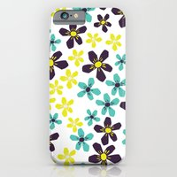 Yellow and Blue Flower iPhone 6 Slim Case