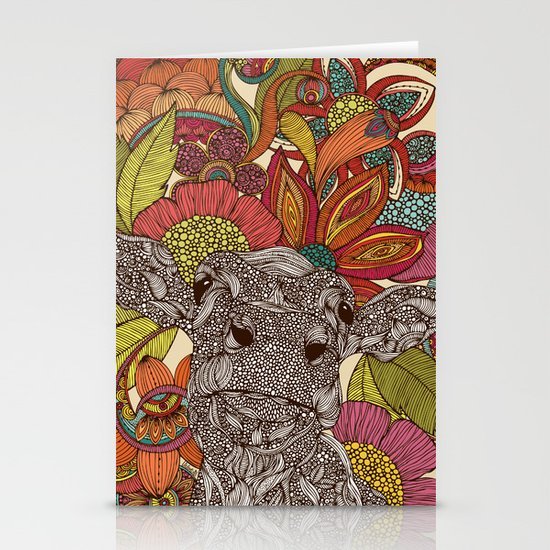 Arabella and the flowers Stationery Card