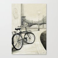 My Bike in New Brunswick Canvas Print