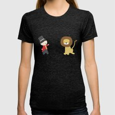 Lion Tamer Womens Fitted Tee Tri-Black SMALL
