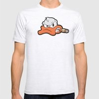 Smoking Duck Mens Fitted Tee Ash Grey SMALL