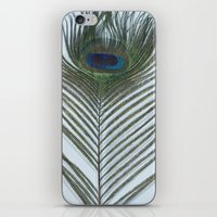 To the eye of the Peacock iPhone & iPod Skin