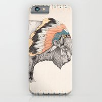 iPhone Cases featuring White Bison by Sandra Dieckmann