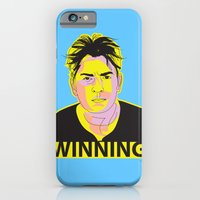 iPhone & iPod Case featuring Charlie Sheen Winning_Ink by Urban Punk - Matt Skelnik