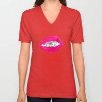 Designer Lipstick and Pizza Unisex V-Neck