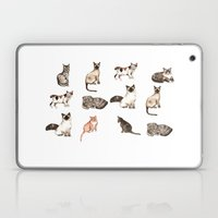 For cat lovers - watercolor of different cat breeds Laptop & iPad Skin