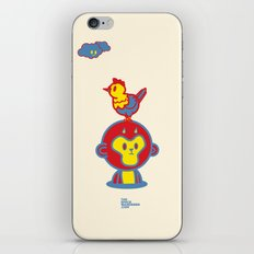 The Monkey and The Rooster  iPhone & iPod Skin