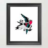 Hirondelle Framed Art Print