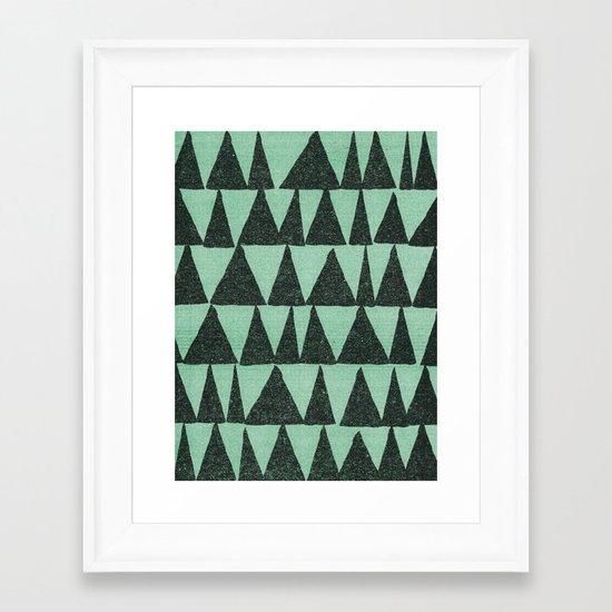 Analogous Shapes. Framed Art Print