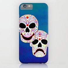 Comedy-Tragedy Colorful Sugar Skulls iPhone 6s Slim Case