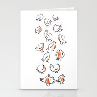 Erithacus rubecula Stationery Cards