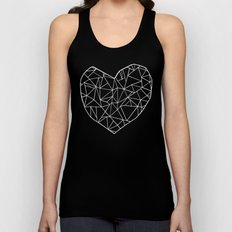 Abstract Heart   Unisex Tank Top