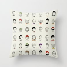 The Characters Of W Throw Pillow