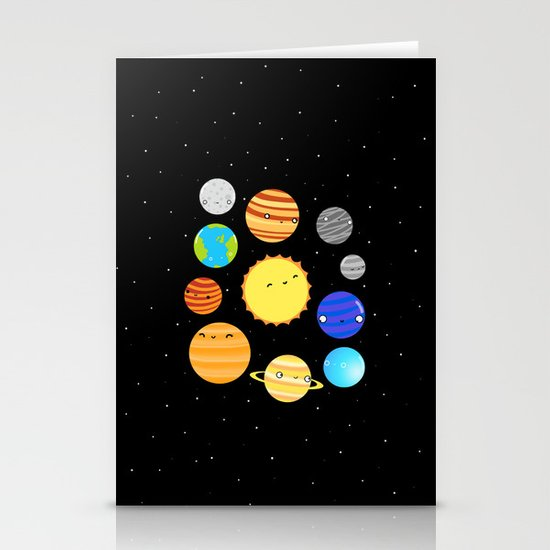 The Solar System Stationery Card