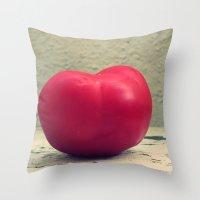 Tomato Red Throw Pillow