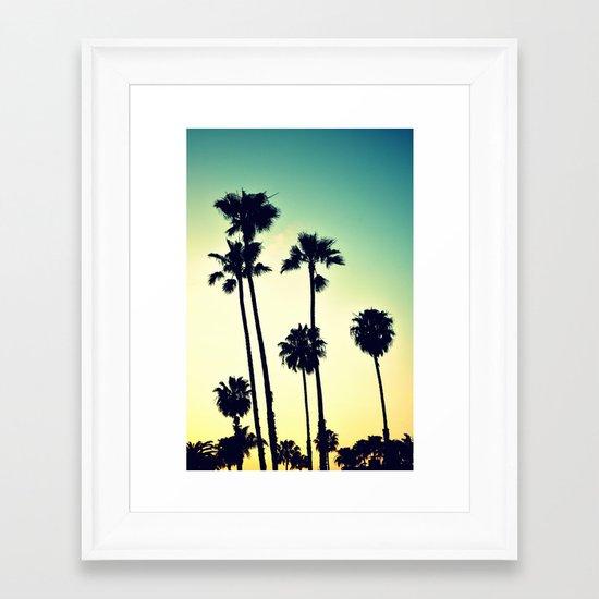 Pacific Coast Hwy Cruisin Framed Art Print
