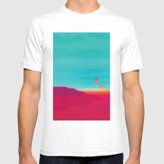 Far Away Mens Fitted Tee White SMALL