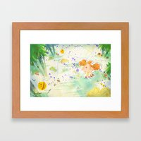 Mushroom Hunt_panorama Framed Art Print