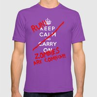 Keep Calm And Run Zombie… Mens Fitted Tee Ultraviolet SMALL