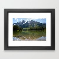 Grand Teton Leigh Lake Framed Art Print