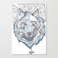 Nalubuff - Arctic Fox Canvas Print