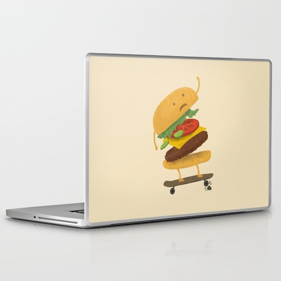 Burger Wipe-out  Laptop & iPad Skin