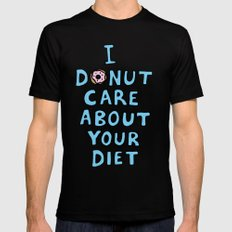 Donut Care Mens Fitted Tee Black SMALL