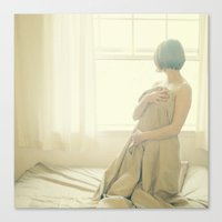 sunday in bed Canvas Print