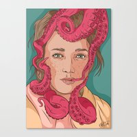 Tentacle Illustration Canvas Print