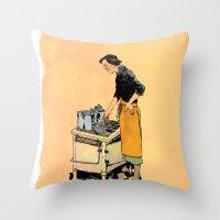 Saint Julia, Patroness of Kitchens Throw Pillow