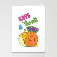 Save a Snail Today! Stationery Cards
